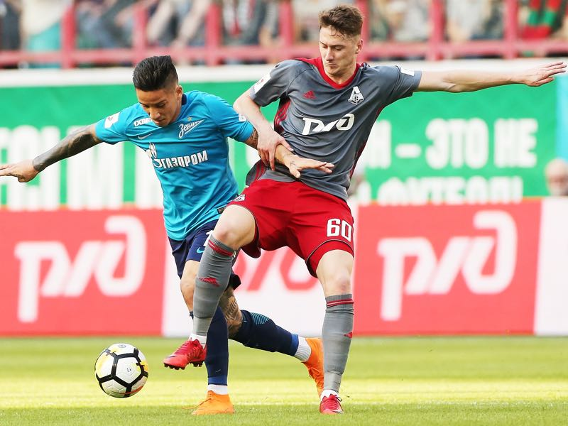 Player like Anton Miranchuk (r.) formed the backbone of Lokomotiv's championship success. (Photo by Epsilon/Getty Images)