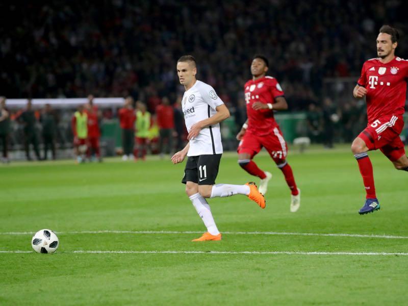 Gačinović - Will Eintracht Frankfurt's DFB Pokal hero feature in Krstajić's Serbia squad? (Photo by Alexander Hassenstein/Bongarts/Getty Images)