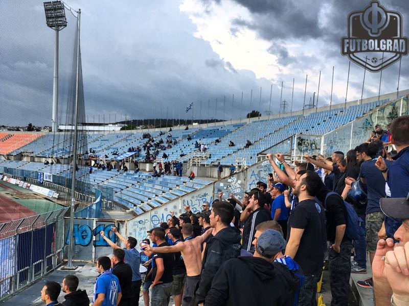 Despite playing in the Greek third division Iraklis have an active, and inclusive, fan base. (Manuel Veth/Futbolgrad Network)