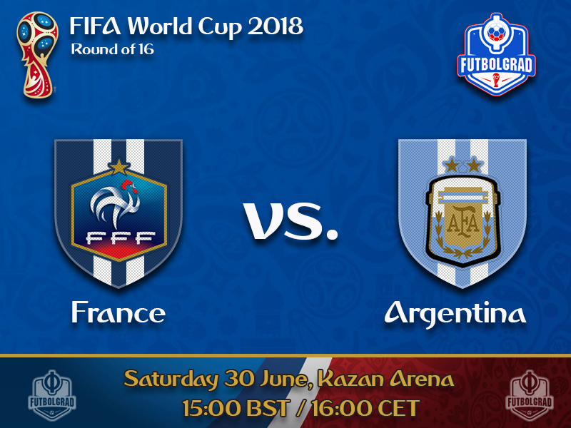 France take on Argentina in a round of 16 clash of giants