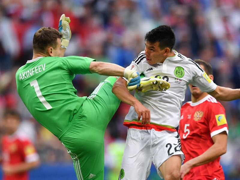 Calamity Akinfeev will remain the number one keeper for Russia (YURI CORTEZ/AFP/Getty Images)