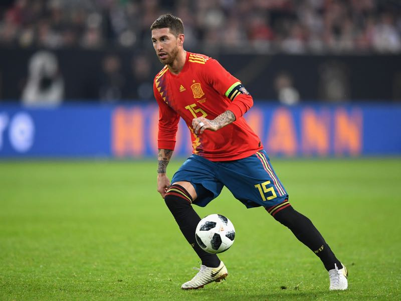 Sergio Ramos will face his teammate Cristiano Ronaldo (Photo by Matthias Hangst/Bongarts/Getty Images)