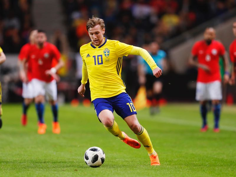 Emil Forsberg will have to improve his form if Sweden want to advance out of Group F (Photo by Nils Petter Nilsson/Ombrello/Getty Images)