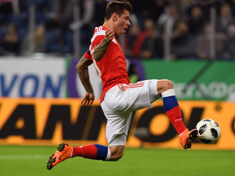 Fedor Smolov is Russia's key player (KIRILL KUDRYAVTSEV/AFP/Getty Images)