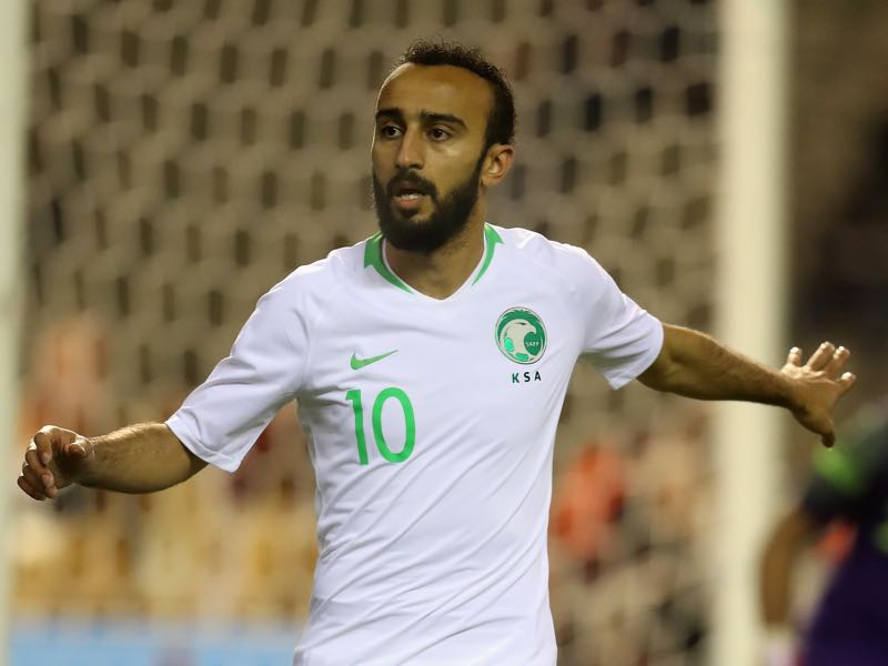 Mohammad Al-Sahlawi scored 16 goals during Saudi Arabia's World Cup qualification campaign (Photo by David Rogers/Getty Images)