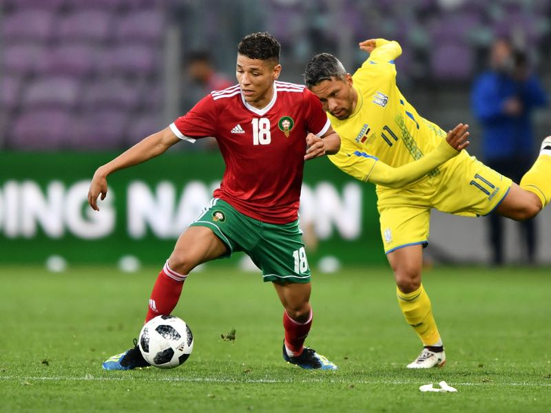 Amine Harit (l.) could be one of the breakout players at the 2018 FIFA World Cup (FABRICE COFFRINI/AFP/Getty Images)