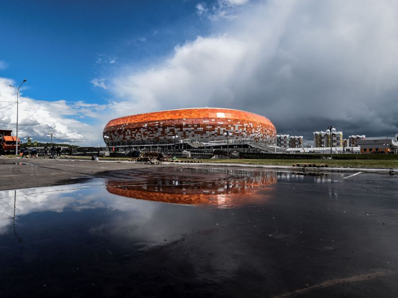 Mordovia Saransk have recently struggled to fill their stadium (JUAN BARRETO/AFP/Getty Images)