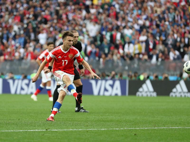 Aleksandr Golovin is one of the break out stars of this tournament (Photo by Catherine Ivill/Getty Images)