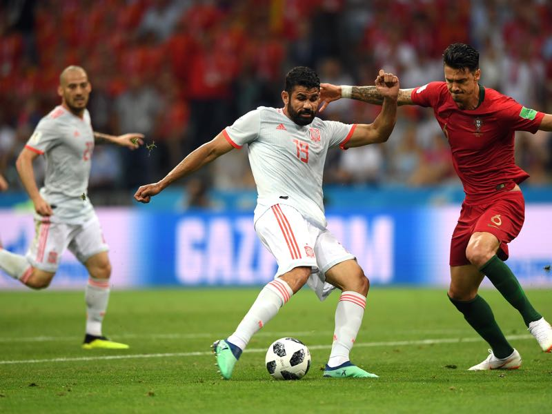 Diego Costa scored a stunning goal against Portugal on matchday 1 (Photo by Stu Forster/Getty Images)