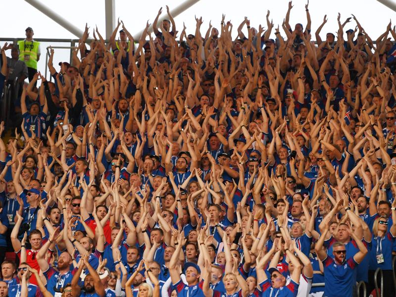 The Iceland huh clap has become the football fan equivalent of Ed Sheeran (Photo by Matthias Hangst/Getty Images)