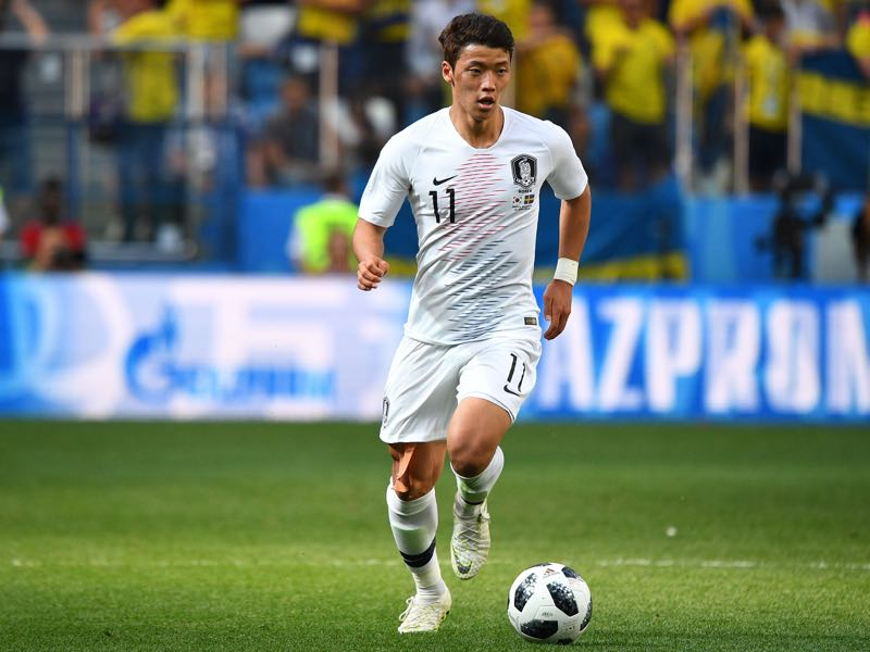 Hee-chan Hwang will be South Korea's player to watch (Photo by Johannes EISELE / AFP)