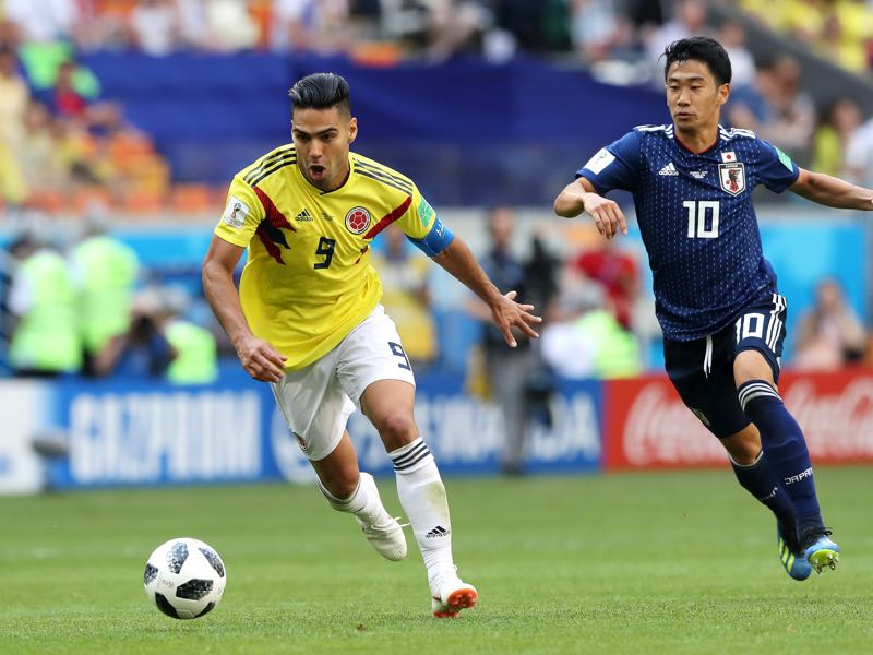 Colombia will rely on Radamel Falcao (l.) to get the job done (Photo by Elsa/Getty Images)