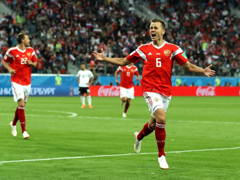 Cheryshev scored some beautiful goals at this World Cup for the Sbornaya (Photo by Richard Heathcote/Getty Images)