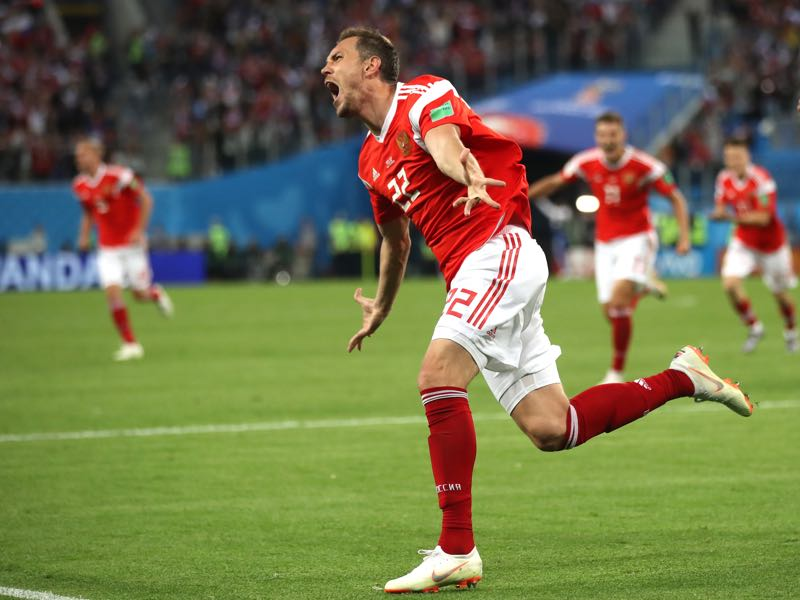 Artem Dzyuba has been in remarkable form at this tournament (Photo by Julian Finney/Getty Images)