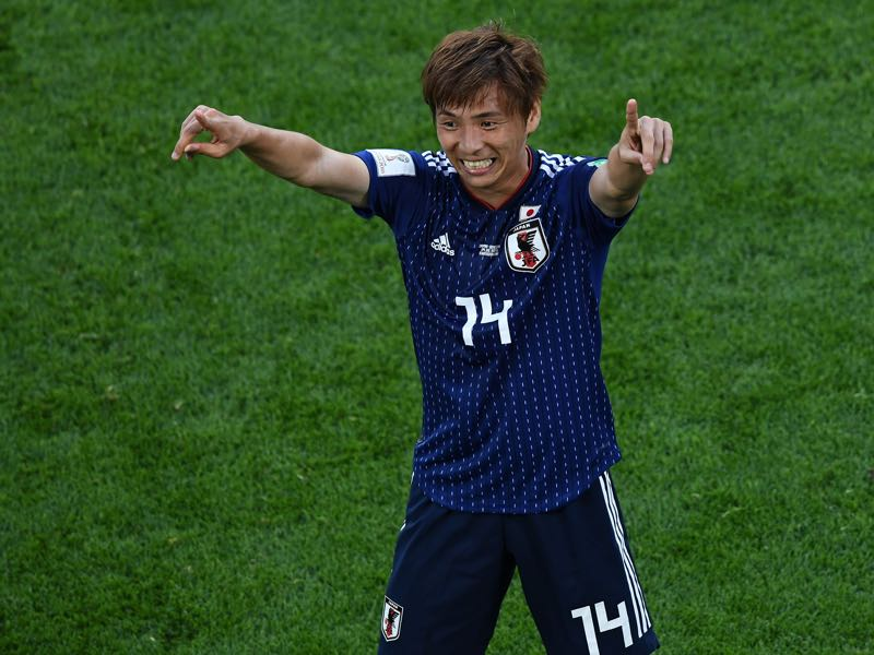 Takashi Inui was impressive against Senegal (Photo by Anne-Christine POUJOULAT / AFP)