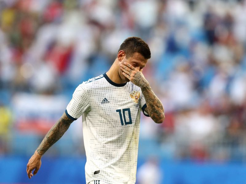 Uruguay v Russia was a tough lesson for Fedor Smolov and Co. (Photo by Maddie Meyer/Getty Images)