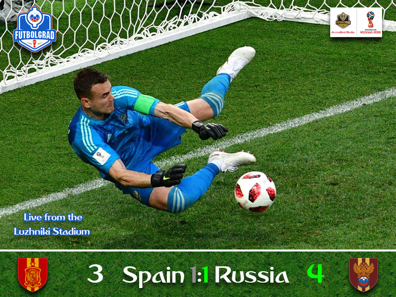 Russia upset the apple-cart to advance to the quarterfinals after eliminating Spain