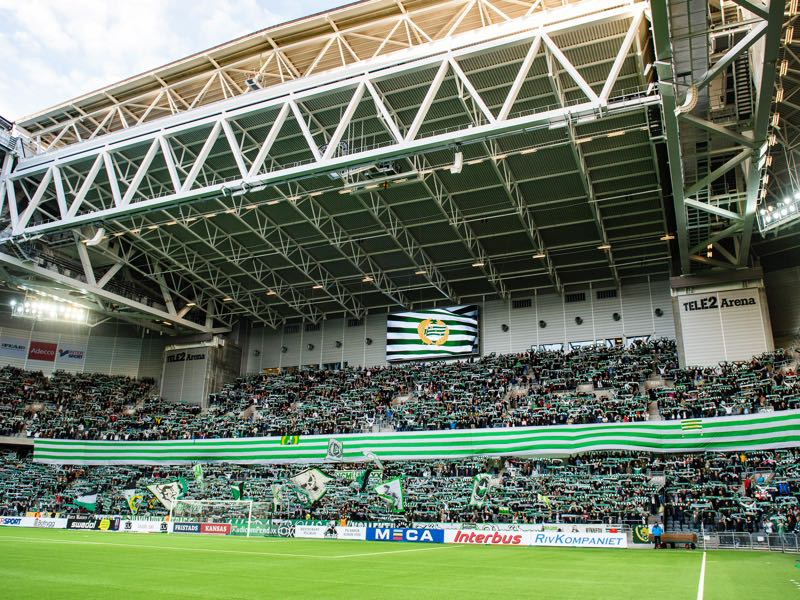 Djurgarden vs Mariupol will take place at the Tele2 Arena in Stockholm (Photo by Marcus Ericsson/Ombrello/Getty Images)