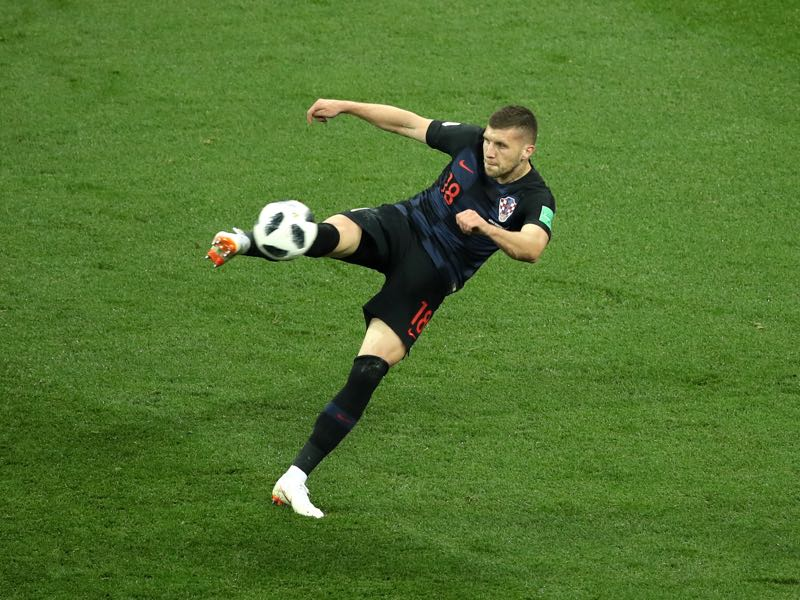 Ante Rebić of Croatia scores his team's first goal during the 2018 FIFA World Cup Russia group D match between Argentina and Croatia at Nizhny Novgorod Stadium on June 21, 2018 in Nizhny Novgorod, Russia. (Photo by Clive Mason/Getty Images)