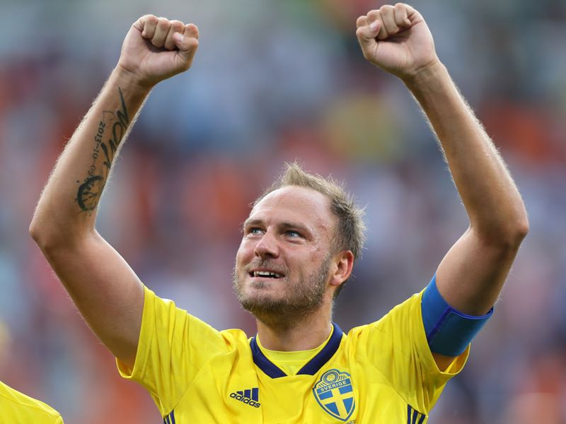 Andreas Granqvist is playing his last major tournament for Sweden (Photo by Clive Rose/Getty Images)
