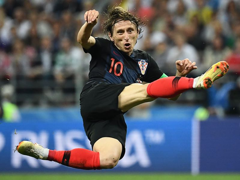Croatia's midfielder Luka Modrić was the player of the tournament. (Photo by FRANCK FIFE / AFP)