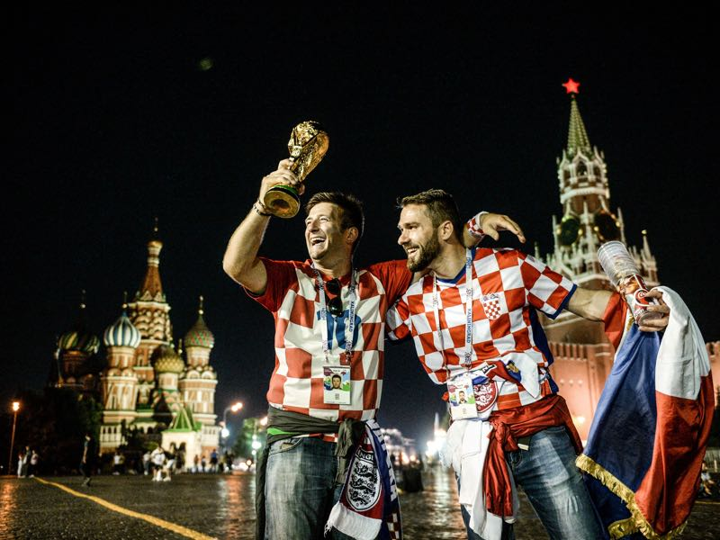 Croatia fans can now dream about winning the World Cup Croatia's players celebrate after winning the Russia 2018 World Cup semi-final football match between Croatia and England at the Luzhniki Stadium in Moscow on July 11, 2018. (Photo by Mladen ANTONOV / AFP)