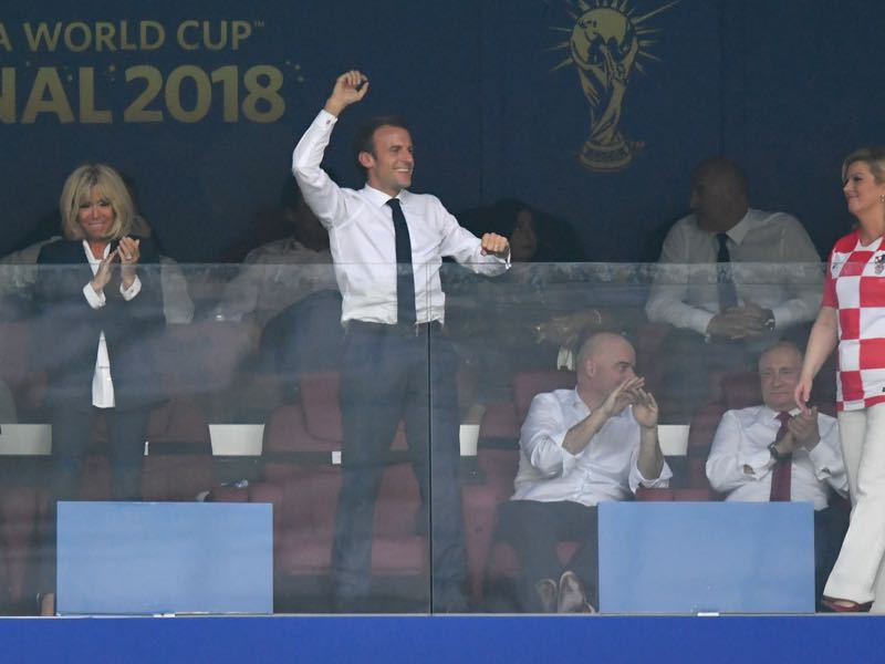 Emmanuel Macron celebrates France's fourth goal. But what will be the conclusion of the tournament bring? French President Emmanuel Macron celebrates after his team's fourth goal during the 2018 FIFA World Cup Final between France and Croatia at Luzhniki Stadium on July 15, 2018 in Moscow, Russia. (Photo by Dan Mullan/Getty Images)