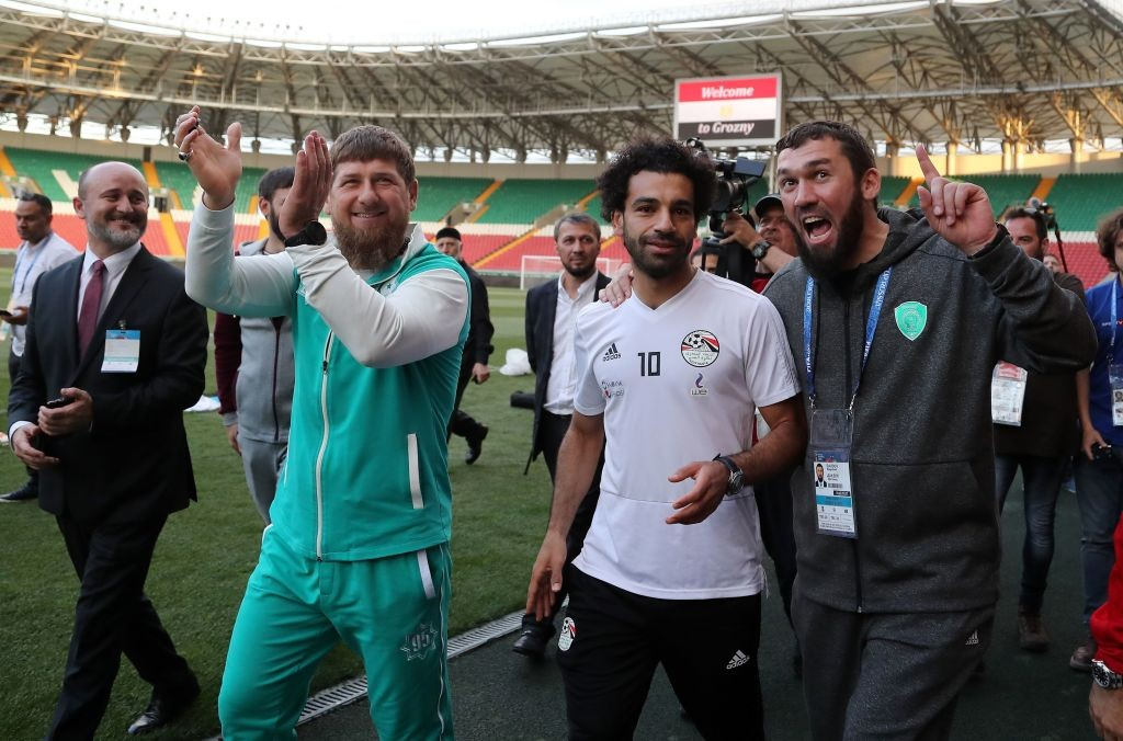 Ramzan Kadyrov was quick to use Egypt, and Liverpool star Salah, being based in Grozny for his own favour (Photo by KARIM JAAFAR / AFP)