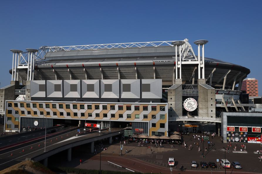 Ajax vs AEK Athens will take place in the Johan Cruijff Amsterdam ArenA (Photo by Dean Mouhtaropoulos/Getty Images)