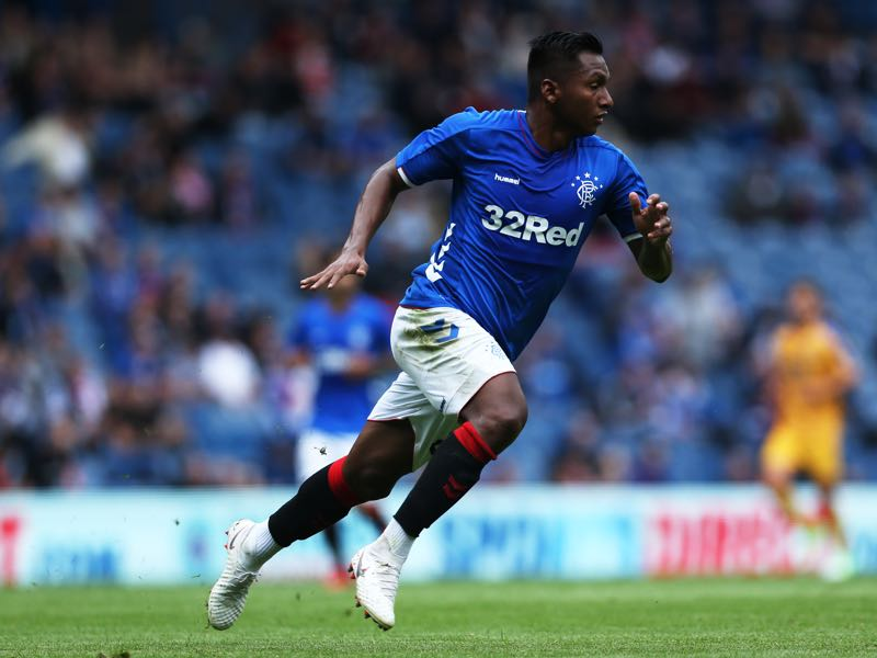 Alfredo Morelos of Rangers is always a goalscoring threat (Photo by Ian MacNicol/Getty Images)