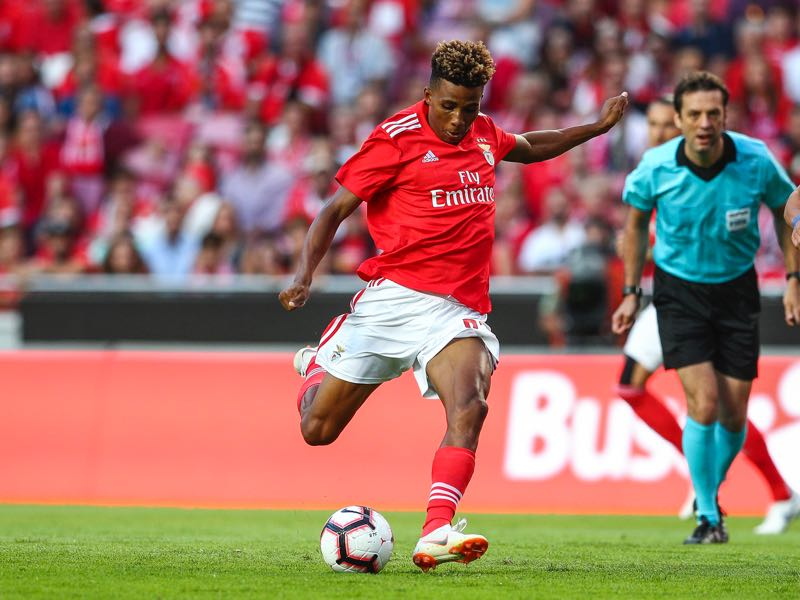 Gedson Fernandes of SL Benfica during the match between SL Benfica and Fenerbache SK for UEFA Champions League Qualifier at Estadio da Luz on August 7, 2018 in Lisbon, Portugal. (Photo by Carlos Rodrigues/Getty Images)