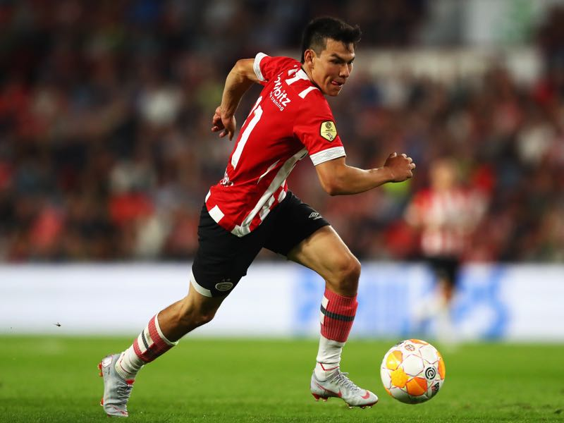 Hirving Lozano of PSV in action during the Eredivisie match between PSV and Utrecht at Philips Stadion on August 11, 2018 in Eindhoven, Netherlands. (Photo by Dean Mouhtaropoulos/Getty Images)