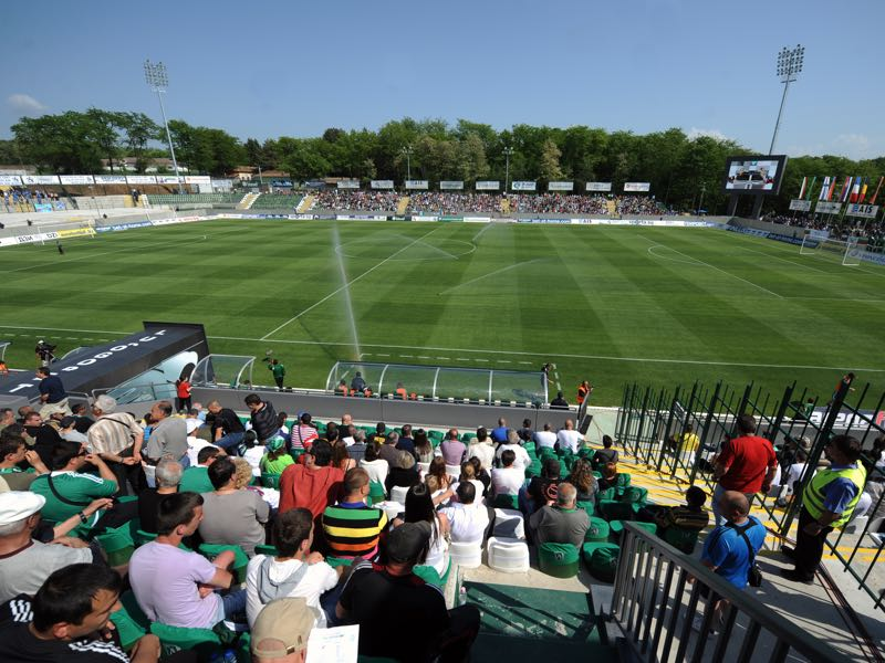 Ludogorets vs Torpedo Kutaisi will take place at the Ludogorets Arena in Razgrad (Photo by Nikolay Doychinov/EuroFootball/Getty Images)
