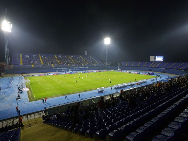 Dinamo Zagreb vs Benfica will take place at Stadion Maksimir in Zagreb (Photo by Damir Sencar/EuroFootball/Getty Images)