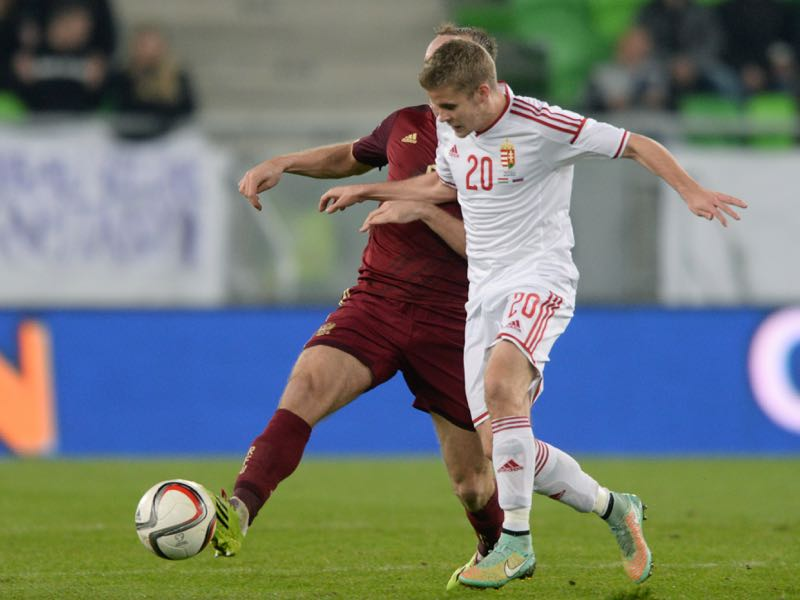 Istvan Kovacs (R) is a Hungarian national team player (ATTILA KISBENEDEK/AFP/Getty Images)