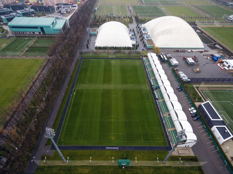 Krasnodar-2 play in the academy stadium, which only has room for 2,200 spectators (VITALY TIMKIV/AFP/Getty Images)