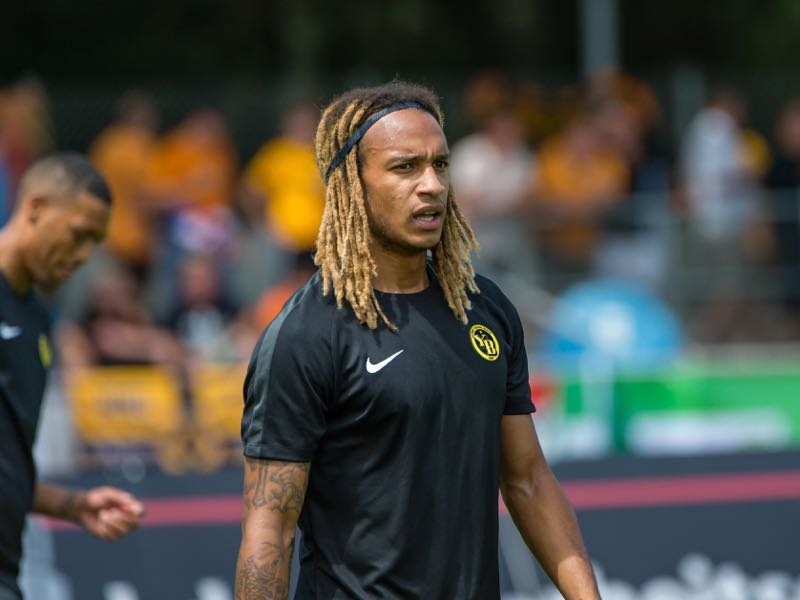 Kevin Mbabu of BSC Young Boys looks on during the Uhrencup 2018 at the Neufeld stadium on July 14, 2018 in Bern, Switzerland. (Photo by Robert Hradil/Getty Images)