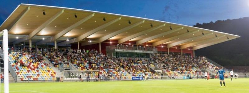 Progres vs Ufa will take place a the Stade Municipal de la Ville de Differdange (Image FC Deifferdeng 03)