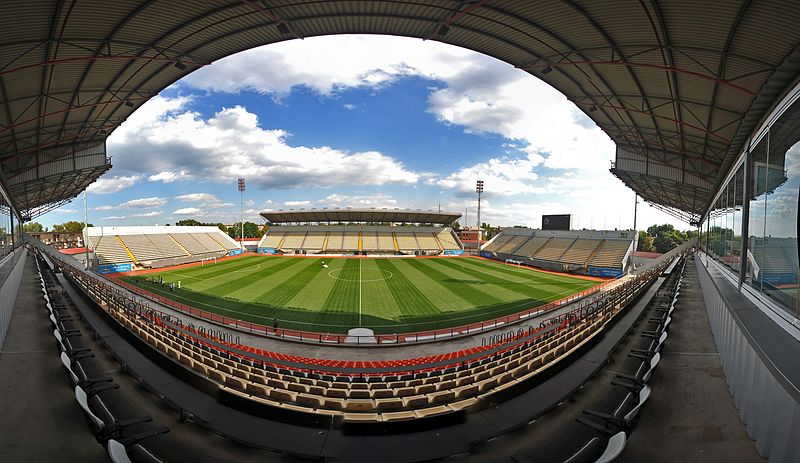 Zorya vs Leipzig will take place at the Slavutych-Arena in Zaporishia Ukraine (Валерий Дед CC-BY-3.0)