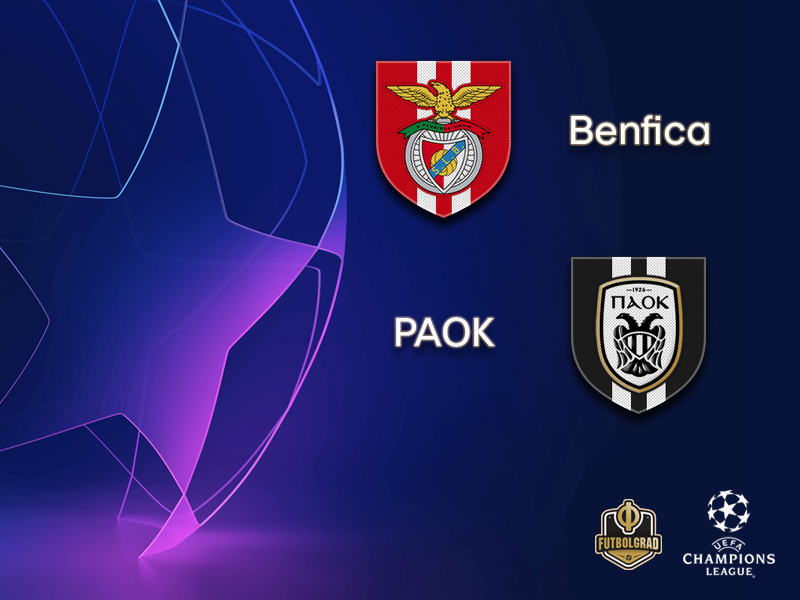 Benfica and PAOK battle for a spot in the Champions League group stage