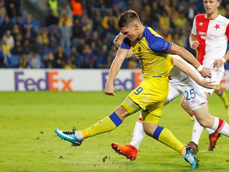 Vidar Örn Kjartansson was signed from Maccabi Tel- Aviv this summer (JACK GUEZ/AFP/Getty Images)