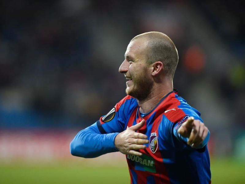 Plzen's Michael Krmencik will be a key player for the Czech side in the Champions League Group G (MICHAL CIZEK/AFP/Getty Images)