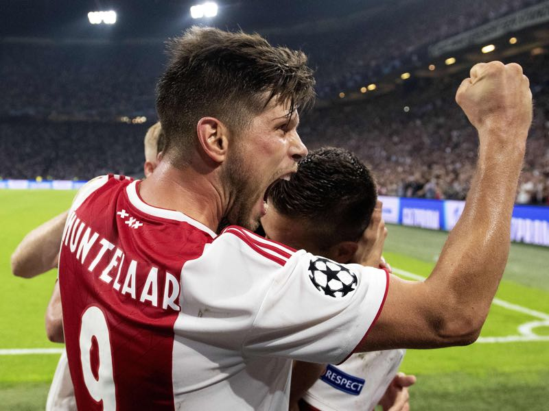 Ajax vs AEK Athens - Klaas-Jan Huntelaar remains a goalscoring machine and will be the man to mark for those facing Ajax in Group E (JAPER RUHE/AFP/Getty Images)