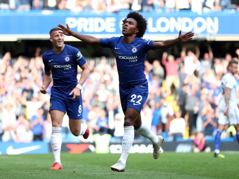 PAOK vs Chelsea - Willian was among the scorers against Cardiff and will be a key player on Thursday (Photo by Dan Istitene/Getty Images)
