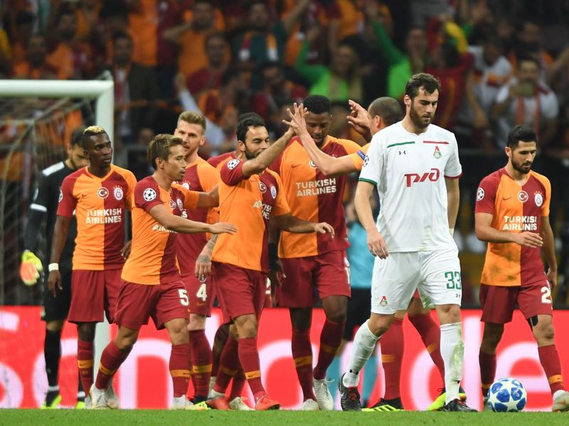 Galatasaray soundly beat Lokomotiv in Europe last week (OZAN KOSE/AFP/Getty Images)