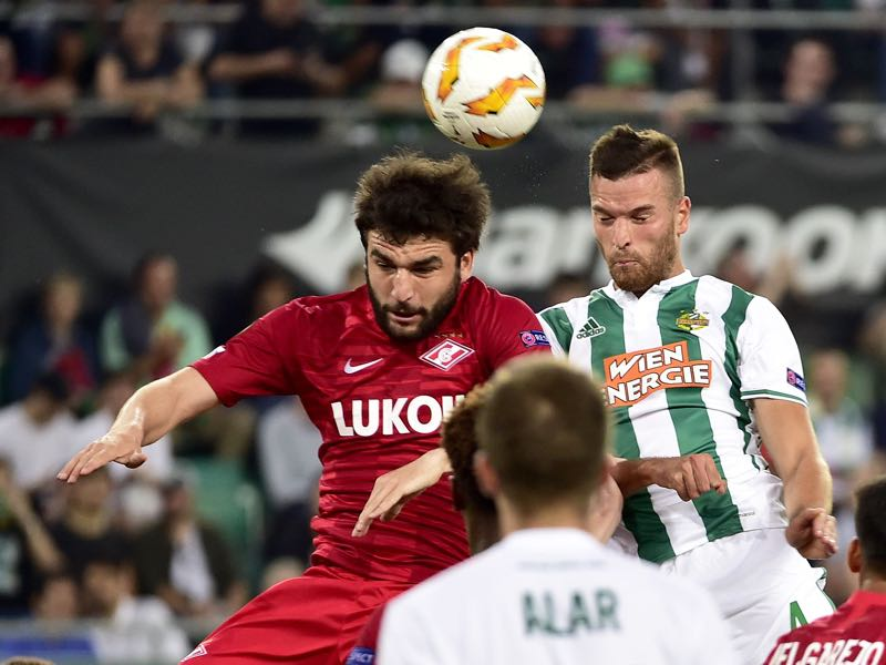 Spartak struggled against Rapid Wien in Europe last week  (HANS PUNZ/AFP/Getty Images)