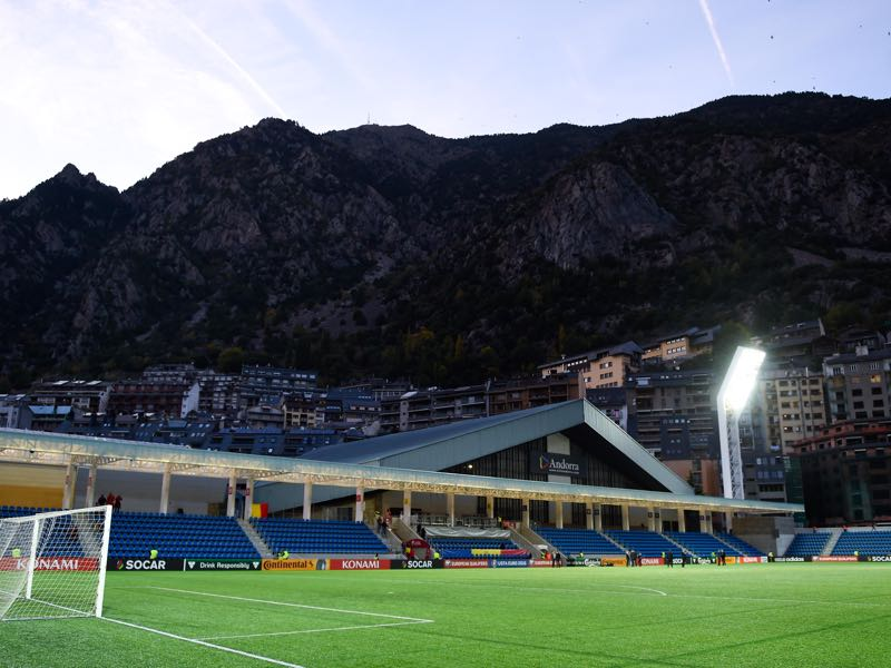 Andorra vs Kazakhstan will take place at the Estadi Nacional d'Andorra la Vella (Photo by David Ramos/Getty Images)