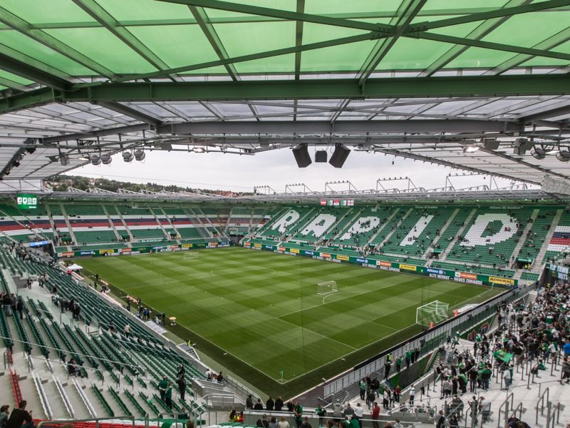 The Europa League match Rapid Vienna vs Spartak Moscow will take place at the Weststadion in Vienna (Photo by Matej Divizna/Getty Images)