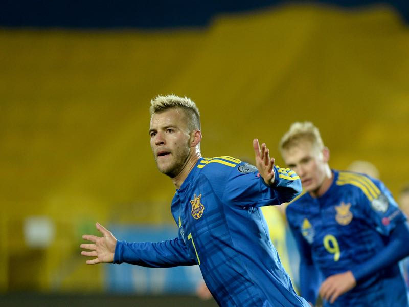 Andriy Yarmolenko will be Ukraine's key player in the UEFA Nations League B - Group 1 (JANEK SKARZYNSKI/AFP/Getty Images)