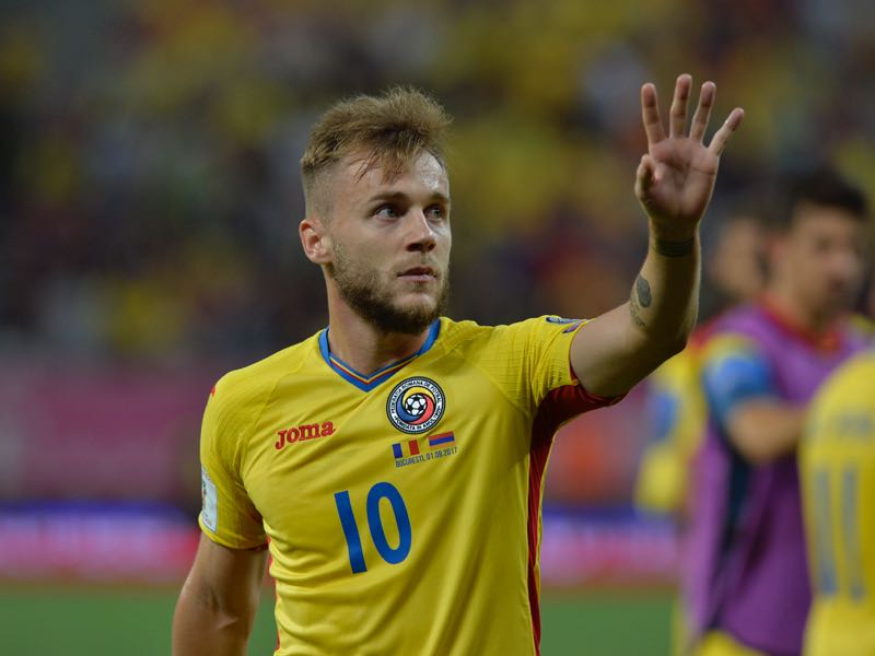 Romania's playmaker Alexandru Maxim is one to watch in the UEFA Nations League C Group 4 (STRINGER/AFP/Getty Images)
